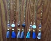 Mini Suede Tassel Necklace