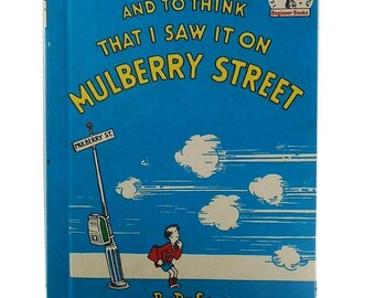Vintage Dr. Seuss Book, And To Think That I Saw it on Mulberry Street, I Can Read It All By Myself, Beginner Books, Vintage Childrens Book