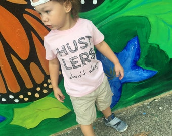 Hustlers Don't Sleep Hipster Baby Boy Clothes Trendy Kids Clothes