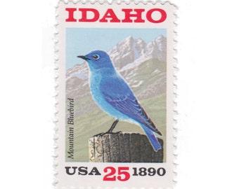 1990 25c Idaho Statehood - 10 Unused Vintage Postage Stamps - Item No. 2439