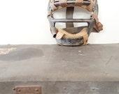 Antique Baseball Catchers Mask ~ Metal / Leather Baseball Head Gear