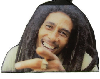 Bob Marley Rasta Necklace/Medallion | Wood Necklace/Medallion