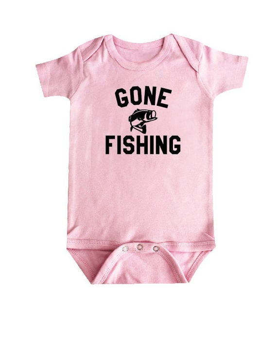Gone Fishing Baby Clothes Baby Bodysuit Baby Shower Gift