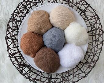"Rayon Stretch Knit Wrap ,13 COLORS, Wrap 14"" x 30"", Newborn Photo Prop, Pick 1 or 2 Wraps, Stretch Wrap, Swaddle Wrap, Layering Fabric."