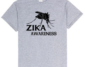 ZIKA Awareness MOSQUITO Education T Shirt Unisex sizes small- 3Xl Unisex Insect Tshirt Comfy Bugs Tee t-shirt