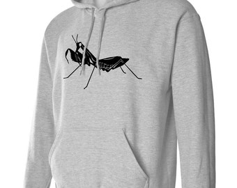 PRAYING MaNTIS Bug Hoodie S M L Xl 2xL 3xL Unisex Insect Comfy Hooded Sweatshirt Bugs