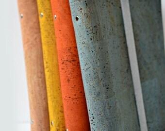 A5 ring binder, cork leather planner, A5 planner, planner binder cork, mechanism 6 rings, elastic closure, luxury leather planner vegan,