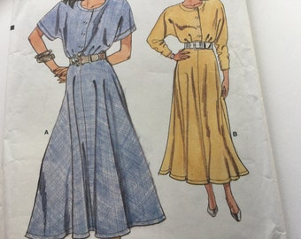 Vogue Very Easy  Pattern 9865, Vintage Vogue Sewing Pattern, Dress, Uncut,  Size 14-16-18