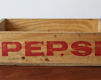 SOLD - Vintage pepsi Wooden Soda crate - Free Uk delivery