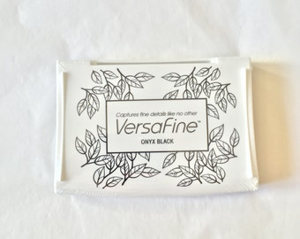 Black Versafine ink pad, Ink pad for fine details, fast drying ink, Onyx Black, Ink for Scrapbooking, rubber stamp pad, ink pad, stamp pad