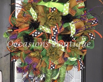 Limited Availability! Halloween Wreath, Wicked Witch Wreath, Front door wreaths, Wreath for door, RAZ,  Pre-Order