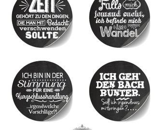 "cute as a button 8 Sticker ""TYPO chalkboard Sprüche"""
