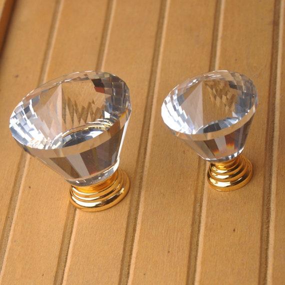 Larger Crystal Dresser Knob Glass Knobs Drawer Knobs Pulls Handles Kitchen Cabinet Knobs