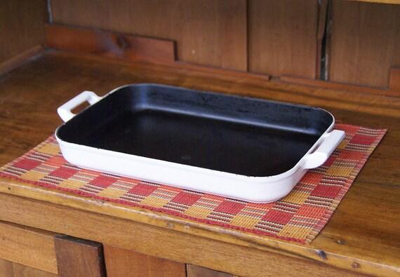 Club Colorcast Cast Iron Baking Dish Roast Pan Casserole