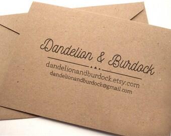 Personalized Business Stamp • Website Rubber Stamp • Custom Logo Address Stamp • Modern Wooden Handle • Etsy Shop Stamp • Email Website