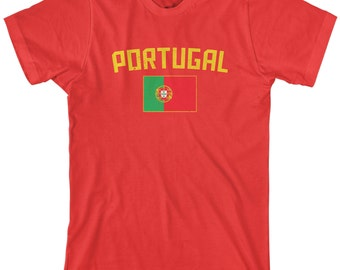 Portugal Flag Men's T-shirt Portuguese National Team European Football Lisbon Soccer - TA_00296