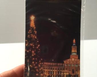 DENVER CIVIC CENTER Post Card,Denver Colorado photo,Christmas post card,Civic Center at Christmas,Vintage Memento,Vintage Souvenir,Denver