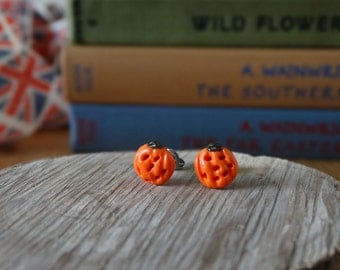 By the Shed Pumpkin Earrings - Fruit - Vegetables - Gardening - Gift - Unique Present - The Good Life - Vegetarian Gift - Halloween Earrings