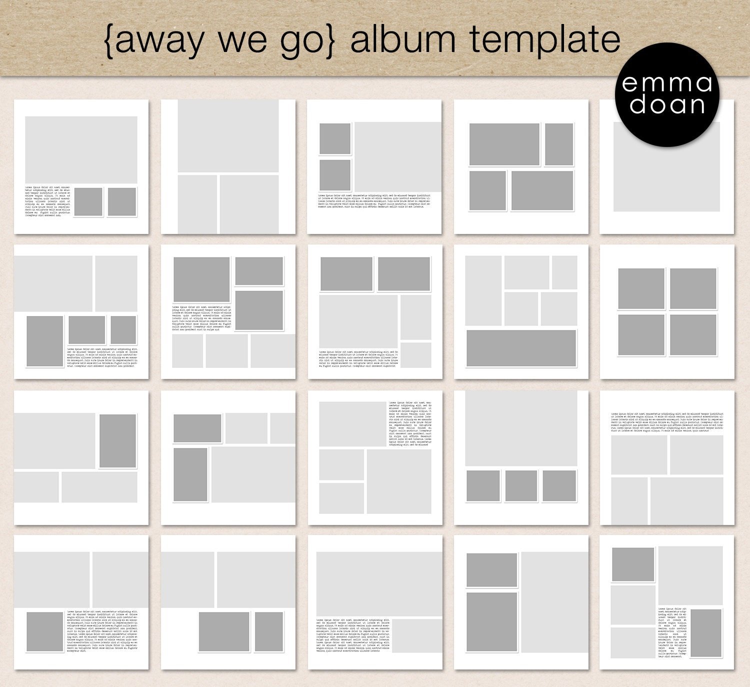 Wanderlust album template 12x12 travel album 12x12 photobook away we go album template 12x12 travel album 12x12 photobook template digital scrapbook template photo collage album template pronofoot35fo Gallery