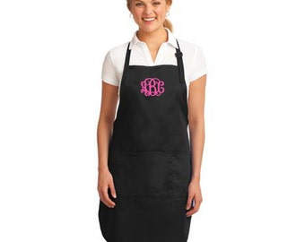 Personalized Apron with Name or Monogram * Available in 6 Colors * Custom Embroidered Kitchen Chef BBQ * Monogrammed Gift