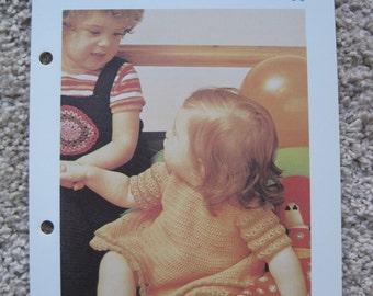 Crochet Pattern - Infant Dress - Fits Newborn to 12 months