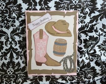 Western Birthday - Boots - Cowboy - Cowgirl - Horse