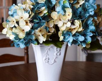 Wedding Hydrangea   Blended Hydrangea Stems   Blue Hydrangea   Weddings Centerpiece   Artificial Hydrangea   Wedding Hydrangea Flowers