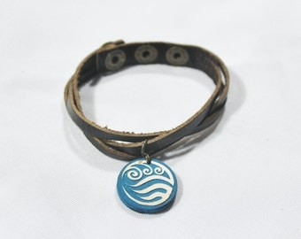 Water Tribe Bracelet Avatar: The Last Airbender and Legend of Korra - Hand Painted and Adjustable // Water Tribe Bracelet