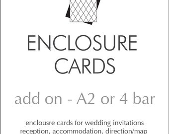 Wedding Invitation Enclosure Cards | Reception, Accommodations, Directions/Map, Details/Info Cards