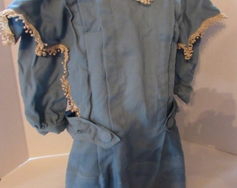 LAST CALL! Victorian Clothing Victorian Child Coat French Blue Coat Lace Accent Coat Children's Fashions Antique Clothing