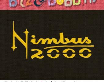 Harry Potter Nimbus 2000 - Machine Embroidery Design