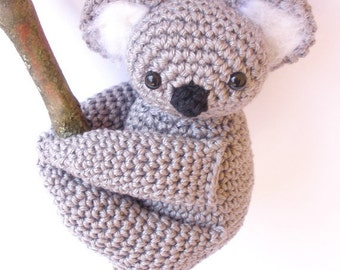 Koala stuffed animal, koala bear, koala baby shower, koala amigurumi, crochet koala, stuffed koala, koala plush