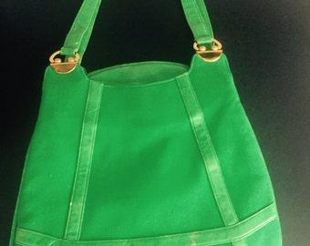 Vintage Kelly Green handbag Satchel
