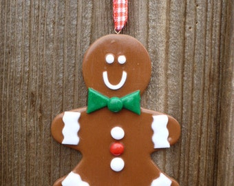 Fimo clay decoration - Gingerbread Man