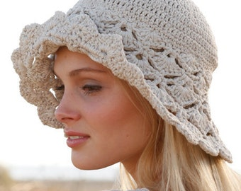 Summer hat, spring hat, cotton hat, ALL COLORS AVAILABLE, crocheted hat, 100% hand made, white hat.