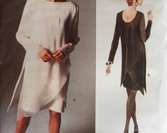 Vintage 90's Vogue 1345 Misses' Overlay Dress Tom and Linda Platt Pattern size 6-8-10 Uncut from 1994