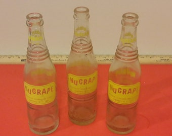 Vintage NuGrape Soda Bottles, Doraville Georgia