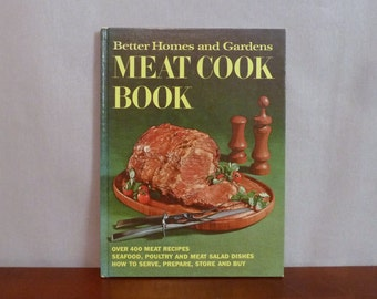 1968 Meat Cook Book - Seafood Poultry Meat Salad - Better Homes and Gardens - Vintage 1960s Cookbook - BHG