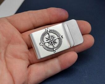 Compass Money Clip, Paper Clip, Business Card Clip, Stainless Steel,  Business Card Holder, Stainless Steel Paper Clip