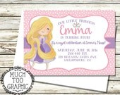RAPUNZEL Tangled Birthday Party Invitation Printables Princess Photo Disney Princesses Sweet Toddler Design