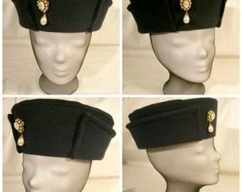 Renaissance Cap, Henry VII Hat, Cap with Brim, Renaissance Hat, Ren Faire, LARP hat's