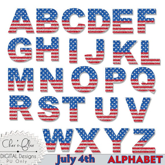 May The Fourth Be With You Lettering: Items Similar To JULY 4TH ALPHABET, JULY 4th Letter, July