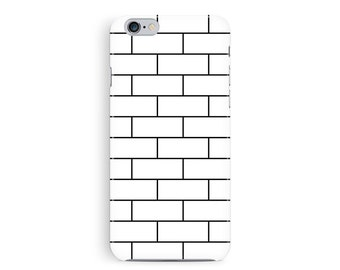 iPhone 6 case, iPhone 6S case, Phone Case, iPhone Accessories, brick iphone 6, minimalist iPhone 6, white iPhone Case, 6s Case Hipster cover