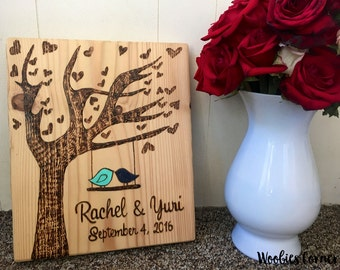 Valentines gift, Love birds wedding, Personalized sign, Anniversary gift, Wedding gift, Rustic home decor, Custom sign, Valentines Day gift