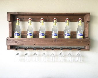 Rustic Wooden Wine Rack, Wine Rack, Farmhouse Decor, Wooden Wine Rack, Rustic Wine Rack, Christmas Gift, Gifts for Him