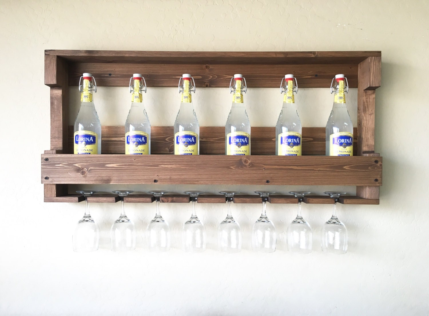 Wine Racks For Home: Rustic Wooden Wine Rack Wine Rack Farmhouse Decor Wooden