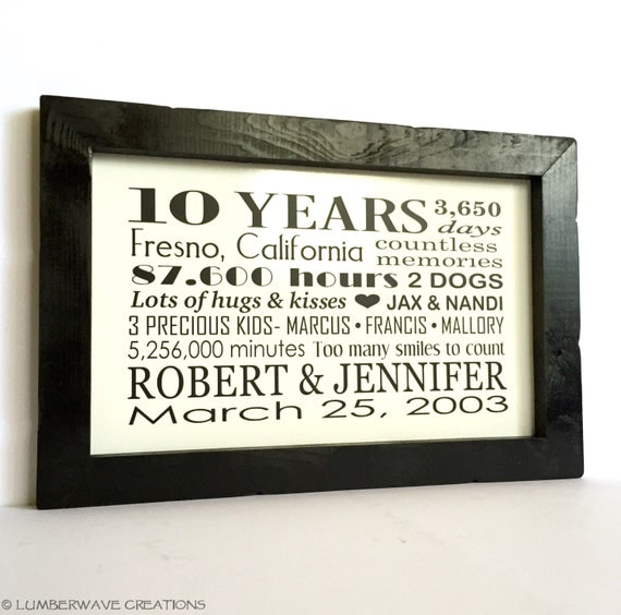 10 Years Wedding Anniversary Gift: 10 Year Anniversary Gift Personalized Anniversary Gift For Him
