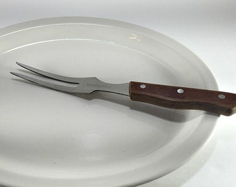 Large Meat Fork, Stainless Meat Fork, Mid Century Meat Fork, Butcher Meat Fork, Chef Meat Fork, Hunter Meat Fork, Butcher Chef Hunter Gift