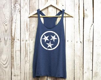 Stars Tank Top. Tennessee Stars. Tennessee Tank. Triblend Racerback Tank.
