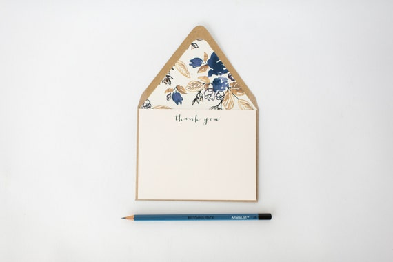 modern thank you cards & lined envelopes (sets of 10) // lola louie paperie